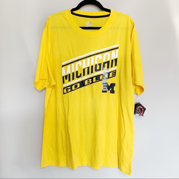 Colosseum Other - 🛍NWT Michigan Yellow T-shirt, Go Blue, XXL